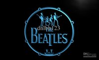 beatles night - LF013 TM The Beatles Band Music Drums Neon Light Signs Advertising led panel Whole