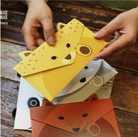 Wholesale Creative Vintage Animal design DIY Multifunction Kraft paper Tag Letter Envelope Green card No