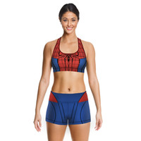 Wholesale Summer Hot Sale Women Running Sets D Spider Man Digital Printing Personality Breathable Quick drying Sportswear Jogging Suit
