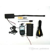 Wholesale T186 Full HD P Security Mini DV Camera Module Hidden Spy CCTV DVR Camcorders recorder recording lens wireless remote control