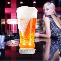 Wholesale Interesting Hopped Up Beer Glass Creative Transparent Glasses Cup Festival Carnival Slip Silicone Lid Beakers