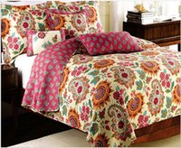 Wholesale Pastoral Bed Spread Wash Bed Sheet Cotton Quilt Eco Friendly Printing Dyeing Bedspread Set Set Pillowcase Comfortor Set