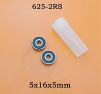 Wholesale 100pcs high quality RS miniature radial ball bearing RS sealed deep groove ball bearings x16x5 mm