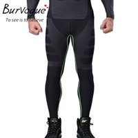 Wholesale Burvogue Slimming Men Shaper Panties Underwear Compression Sport Hight Waist and Tummy Comtrol Body Shaper Pants Shapewear
