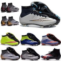 ag golf - New Original Mens High Ankle Football Boots IV V VI MeRCuriAl CR7 SupErfly FG AG Soccer Shoes ACC MaGIsta SuPerflys HyperVENom Soccer Cleats