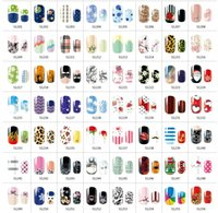 Wholesale Environmental Nail Polish Fashion Nail Sticker Nail art nail Patch convenience decals S serious colorful