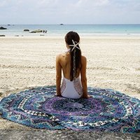 Wholesale towel For travel Bohemian Geometric Printed Indian Mandala Round Roundie Beach Towel Throw Tapestry Hippie Yoga Mat Shawl Designs