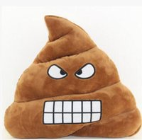 Wholesale 23 cm Mini Cute Emoji Emoticon Cushion Poo Shape Pillows Doll Toy Throw Pillow Sofas decorative Pillow Decor