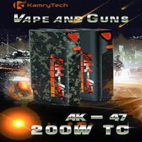 ak batteries - In business KAMRY AK W MOD Big vapor kamry AK47 VAPE BOX MOD mah battery box mod kit Kamry AK47 W TC vape gun