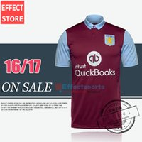 aston villa shirts - Top Thailand Quality New Arrived Aston Villa home red Soccer Jerseys Maillot de foot home Short sleeve football shirts