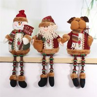 best polypropylene - Hot Sale Santa Claus Snow Man Reindeer Doll Christmas Decoration Xmas Tree Hanging Ornaments Pendant Best Gift