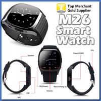 Korean age player - 2016 Bluetooth Smart Watches M26 for IOS iPhone S Android Samsung S6 S7 Edge Barometer Alitmeter Music Player Pedometer PK U8 DZ09