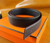Wholesale High quality cowskin genuine leather designer belt for men and women brand waist Belts wtih gold or silver H buckle