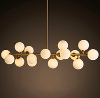 art deco lighting fixtures chandeliers - Hot sale North Europe Style LED creative modo DNA pendant light Globes glass lampshade chandelier LED lighting fixture lamp