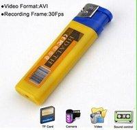 Wholesale Yellow blue Mini DV lighter Camera mini video camera Lighter Spy Cameras portable Video And Photo Recording video support TF card