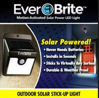 Wholesale Ever Brite Solar Outdoor Stick Up Light Motion Activated No Tools Solar Lamps with Retail Box