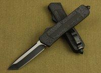 Directo de fábrica Red de Microtech Escarabajo táctico cuchillo plegable Single Edge hoja completa de caza plegable del bolsillo de supervivencia del cuchillo con bolsa de nylon