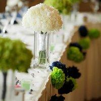 Wholesale ZH2 inch cm Pompon Tissue Paper Pom Poms Flower Kissing Balls Home Decoration Festive Party Supplies Wedding Favors