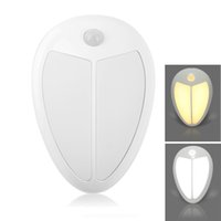bedroom closet cabinets - Mini Wireless Infrared Motion Sensor Baby LED Night Light Porch Wall Lamp for Bedroom Hallway Cabinet Stairwells Kitchen Closet Light