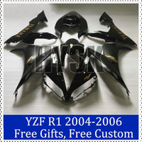 Wholesale Fairing kits for Yamaha Yamaha YZF R1 Black bodycover gold decal YZF R1 Motorbike Cowling Brand new fairings