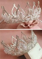 Wholesale Best Selling Vintage Silver Wedding Tiara Bridal Hair Crown Headband Accessories Women Jewelry Hairband Headpiece