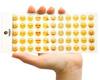 Wholesale 12pcs Emoji Face Stickers Removable Decal Mural Home Decor Emoji Smile Sticker For Iphone Laptop Facebook Fridge Magnet Cute kids Toys