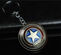 Wholesale Hot Marvel Comics Super Hero Captain America The Avengers Keychain Key Ring Holder Purse Bag Buckle Accessories Gift KC