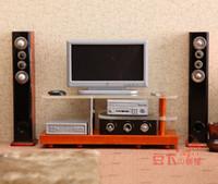 audio tv furniture - G05 X0059 children baby gift Toy Dollhouse mini Furniture Miniature home Decoration TV Audio set