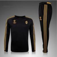 Wholesale hot selling real madrid chelsea soccer tracksuit chandal Survetement football Tracksuit training suit skinny pants Sportswear best qua