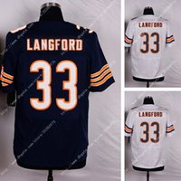 bear sweatshirts - NWT Factory Outlet Authentic New NIK Elite Bears Jeremy Langford Stitched Embroidery Logos America Football Jerseys Sweatshirts Uniforms