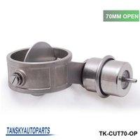 Wholesale Tansky NEW Vacuum Activated Exhaust Cutout Dump MM Open JDM Style Pressure about BAR TK CUT70 OP