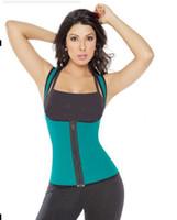 sweat suit - lus size women sweat enhancing waist training corset cincher waist trainer sauna suit Sport vest hot shaper body sport top