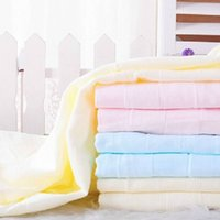 bamboo baby washcloths - New Top Quality Baby Solid Color Bath Towel Bamboo Anti bacterial Breathable Cute Child Baby Soft Towel