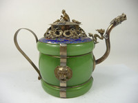 Wholesale collectible old china handwork porcelain teapot armored dragon NR