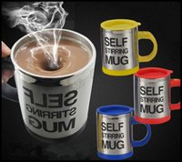 Wholesale Lazy Self Stirring Mug Automatic Electric Coffee Tea Mixing Cup With Lid Stainless Steel ml Creative Drinkware DHL Shipping JTW68_10