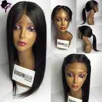Pelucas llenas del pelo humano del cordón de Glueless para las pelucas perucas del frente del cordón del pelo humano de las mujeres negras peluca recta larga de la pieza del U