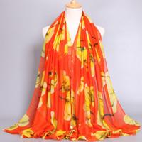 beauty hijab - Women fashion design viscos scarf beauty tulip flower printe popular shawls muslim wrap hijab scarces muffler