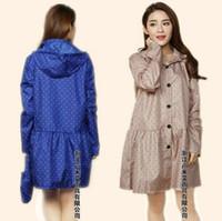 Wholesale fashion Rain Poncho Coat Jackets Female Blue Beige thin adult long raincoat women chubasqueros Impermeables Mujer