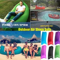 Wholesale Inflatable Sofa Sleeping Bag Outdoor pads Air Sleep Sofa Couch Portable Furniture Sleeping Camping Hangout Lounger Inflate Air Bed Imitate