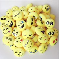 Wholesale 2016 New QQ Emoji Plush Pendant Key Chains Emoji Smiley Emotion Yellow QQ Expression Stuffed Plush Doll toy for Mobile Bag Pendant