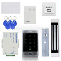 bells door locks - DIY KHz RFID Reader Password Keypad kg lb Magnetic Lock Door Bell Door Access Control Security System Kit