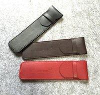 Wholesale of high grade pen ball pen case leather cap MB pen case With a lid pen bag