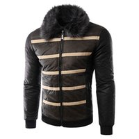 Wholesale Fall Casual Fashion Mens Faux Fur Coats Winter Style Men Prom Leather Jackets and Coats Oversize Mens Fur Coats Leather New S1908