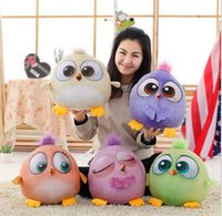 Wholesale 2016 New Cartoon Angry Birds Plush Toys cm cm cm Stuffed Animals Doll D Printed Children Girls Boys Funny Gift DCBB73