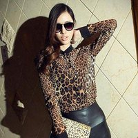 baroque blouse - NEW Fashion Sexy Women s Baroque Leopard Chiffon Long Sleeve Blouse Tops plus size shirt