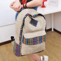 Wholesale Aztec Tribal Vintage Student High School Bags Bookbag Hmong Ethnic Rucksack Double Shoulder Backpack bag