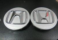 accord center caps - DHL mm silver Black Red H car Emblem Badge Wheel Hub Caps Rims Cover For H wheel center cap