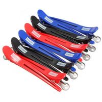 Wholesale Pro Hairdressing Aluminum Plastic Clips Clamps Salon Barber Section Hair Grip Clip Styling Tools Accessories