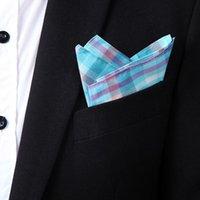 Wholesale Men Suits Cotton Sunny Handkerchiefs Printing Colorful Pocket Square Hankies Business Casual Square Pockets Hanky