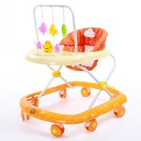 baby toddler activities - New Arrival Baby Walker Rollover Prevention Infant Portable Strollers Toddler First Steps Musical Activity Toys Colors JN0073